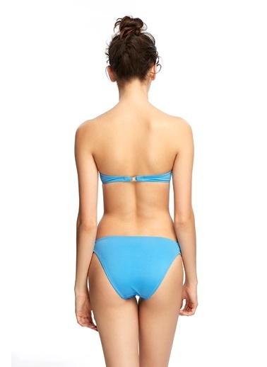 Reflections Mix Match Halat Modeli Düz Bikini Altı Mavi
